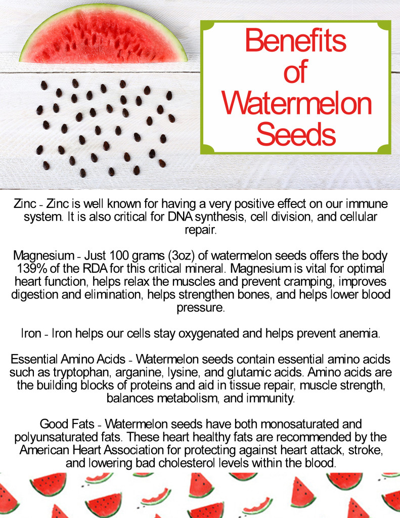 benefits of watermelon seeds ex